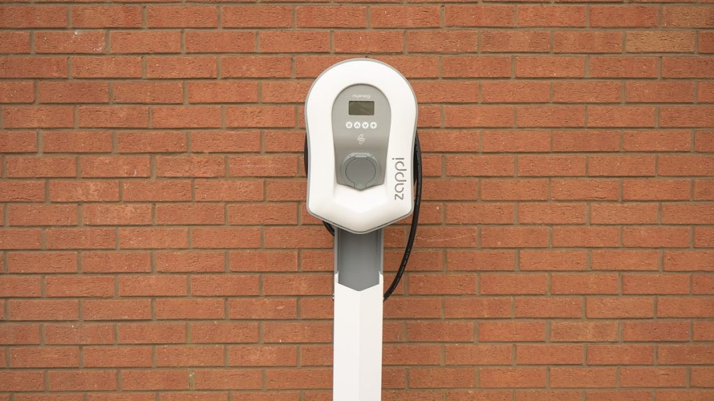 White Car Charger for Electric Cars